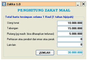 "Download: Software Perhitungan Zakat ""Zakka 1.0 Beta"""