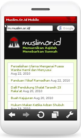 Muslim.Or.Id Versi Mobile