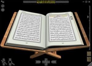 Tampilan Quran3D dari Atas