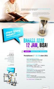 Kursus Gratis Bahasa Arab 12 Jam (Yogyakarta)