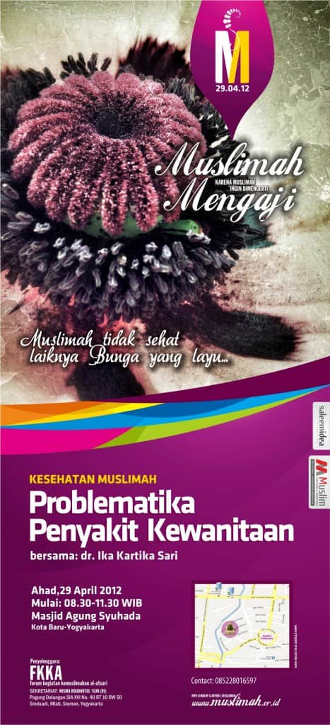"Kajian Khusus Muslimah ""Problematika Penyakit Kewanitaan"" di Yogyakarta (29 April 2012)"