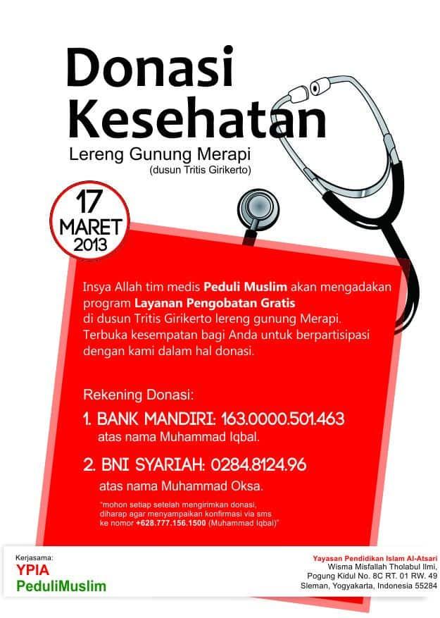 donasi kesehatan, donasi merapi