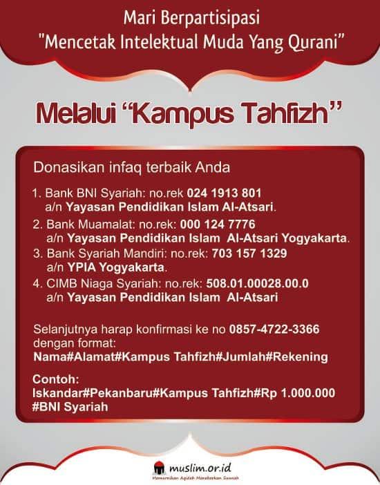 Sekilas Tentang Kampus Tahfidz Yogyakarta