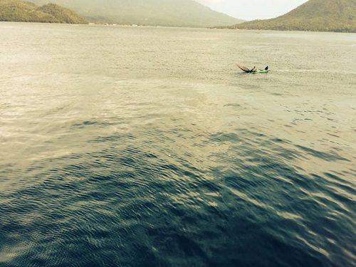 Keadaan laut yang masih asri dan jernih di Perairan Ternate Tidore