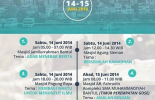 Safari Dakwah Ustadz Badrussalam di Yogyakarta (14-15 Juni 2014)