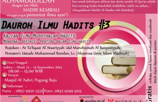 Daurah Ilmu Hadist (Yogyakarta, 13-14 September 2014)