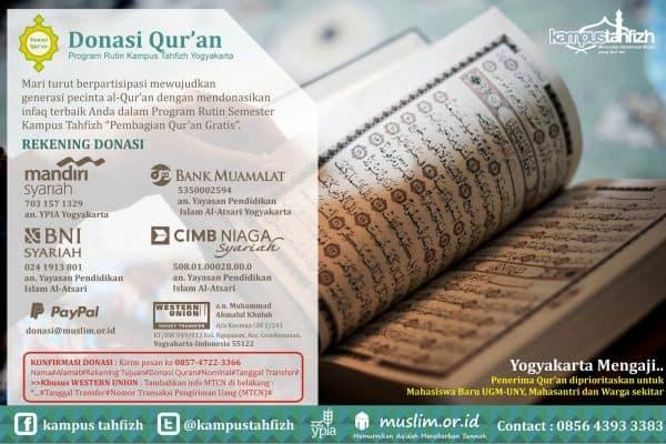 Donasi Al Qur'an Kampus Tahfidz Yogyakarta