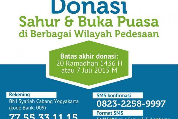 Donasi Program Buka Puasa dan Sahur Bersama di Masjid-Masjid Pedesaan