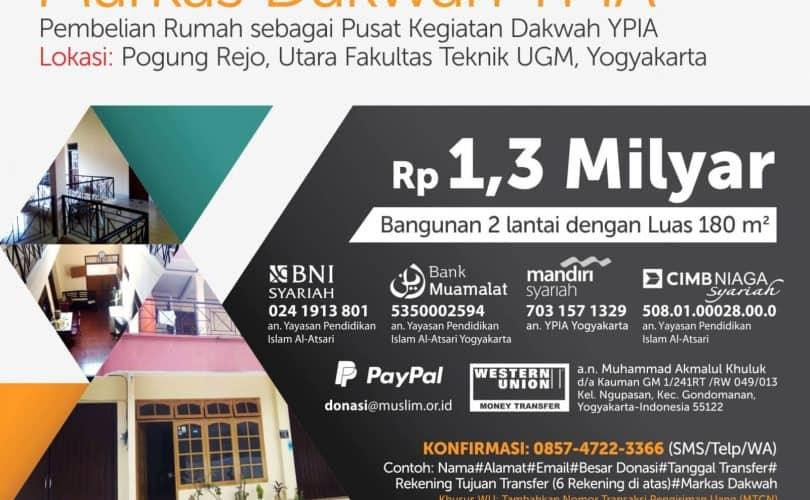 Donasi Markas Dakwah YPIA Yogyakarta