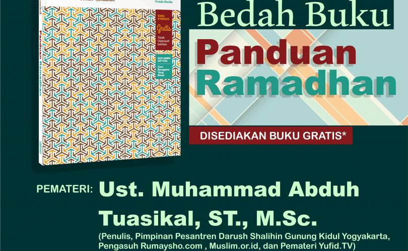 Kajian Bedah Buku Panduan Ramadhan 1437 (Yogyakarta, 19 Mei 2016)