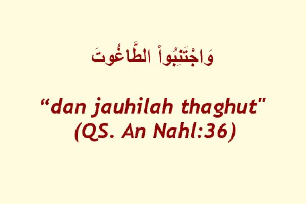 Makna Istilah Thaghut