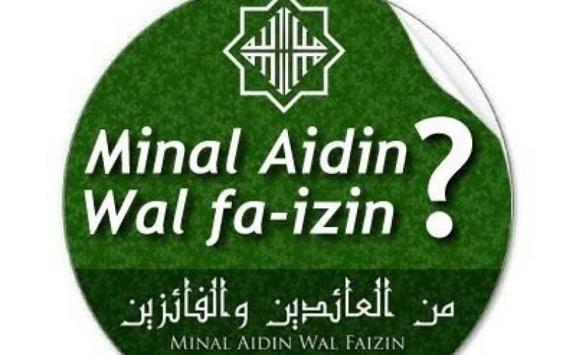 Salahkah Ucapan Minal Aidin Wal Faizin?