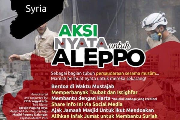 Apa Yang Bisa Kita Lakukan Untuk Saudara Kita Di Aleppo?