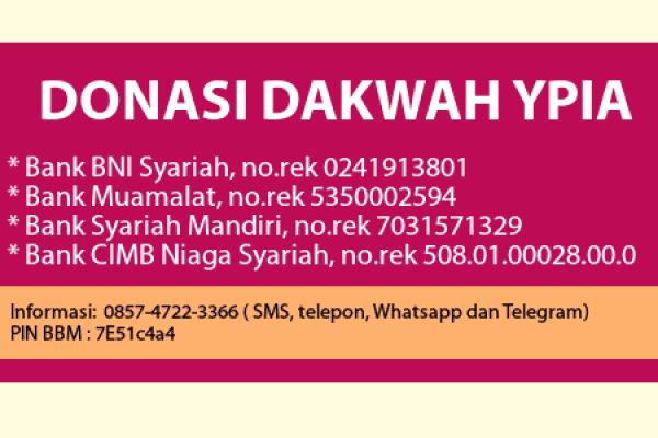 Laporan Donasi YPIA periode Bulan April 2017