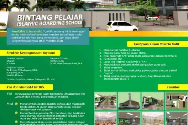 PPDB SMA BP IBS (Bintang Pelajar Islamic Boarding School)